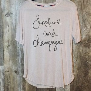 Sunshine and Champagne Graphic Top!